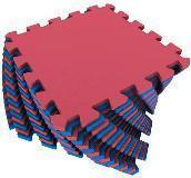 Мягкий пол универсальный 25*25 (см) красно-синий