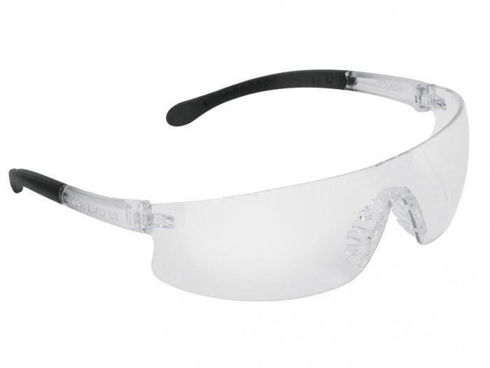 (14293) Защитные спортивные очки прозрачные, поликарбонат LEN-LT