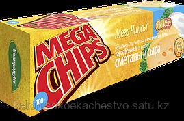 Чипсы-пластины MegaChips 50 сметана + сыр