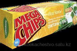 Чипсы-пластины MegaChips 50 сметана + лук