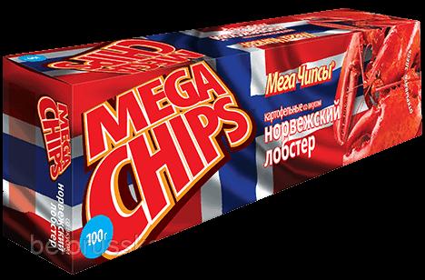 Чипсы-пластины MegaChips 100 норвежский лобстер