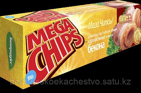 Чипсы-пластины MegaChips 100 бекон