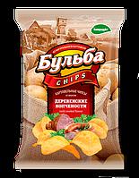Чипсы из натурального картофеля Бульба Chips деревенские копчености