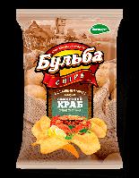 Чипсы из натурального картофеля Бульба Chips заморский краб