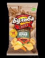Чипсы из натурального картофеля Бульба Chips заморский краб 150 гр.