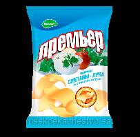 Чипсы-пеллеты Премьер Большой сметана + лук 110 гр.
