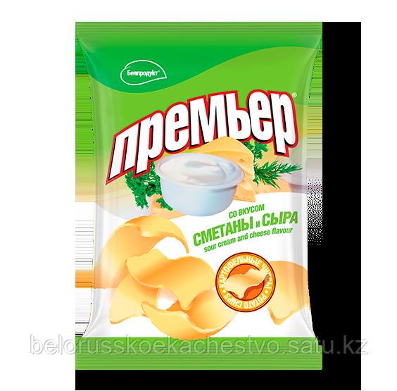 Чипсы-пеллеты Премьер Большой сметана + сыр 110 гр.
