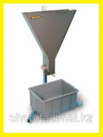 Определение времени вытекания из V-воронки для бетона