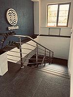 Перила на лестницу матовая нержавеющая сталь
