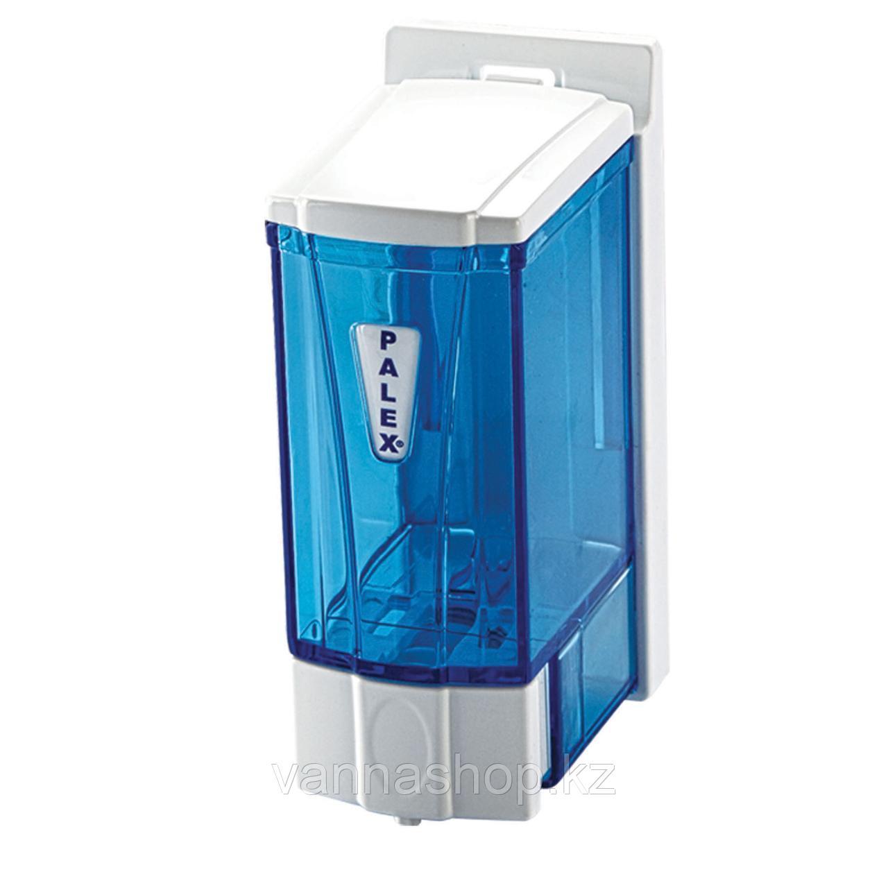 """Дозатор для жидкого мыла 250 мл """"Прозрачный синий"""""""
