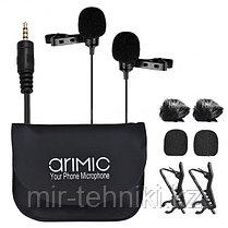 Петличный микрофон Ulanzi Arimic Dual с двумя микрофонами 0073
