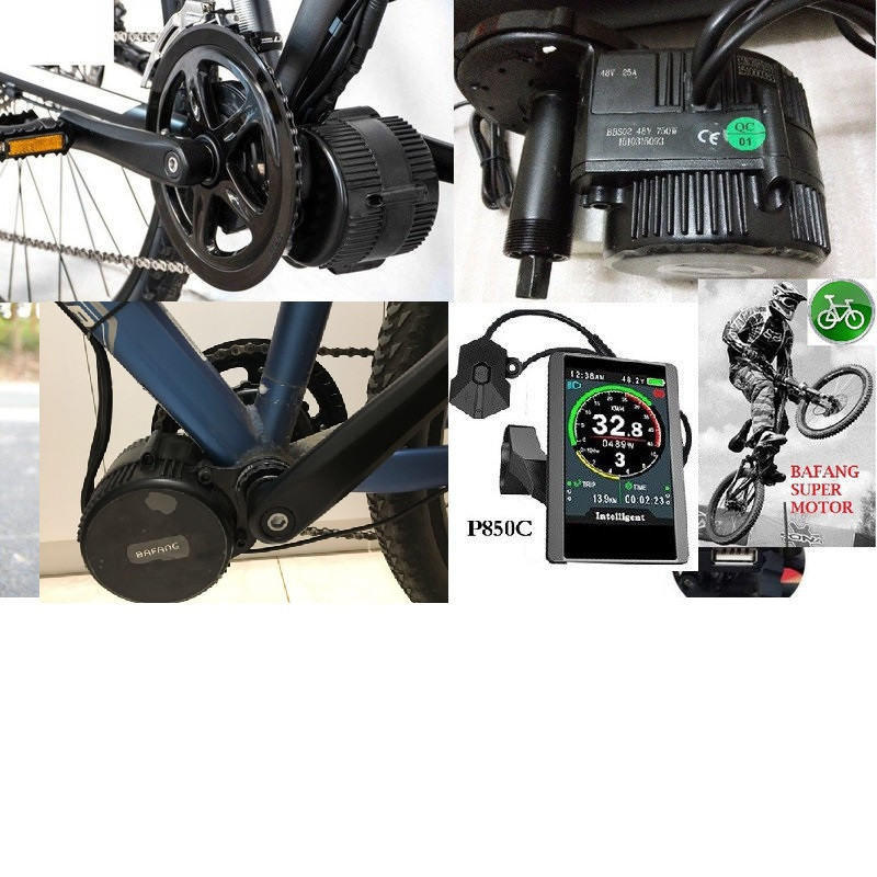 Эл. набор  Bafang 8FUN BBSHD 48v 1000w с цветным дисплеем TFT-850C кареточный на велосипед.68 мм.
