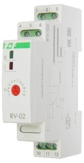 RV-02 Реле времени, C задержкой выключения. Напряжение 230 В; 50 Гц, Выдержка времени 0,1 сек. – 24 суток, 8А
