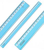 """Линейка СТАММ """"Cristal"""" 40 см, тонированная голубая"""