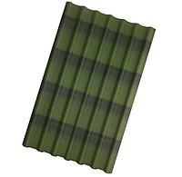 Черепица Ондулин (фиорентино, красный, зеленый, коричневый) зеленый