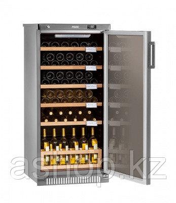 Шкаф винный Pozis ШВ-52, Тип открывания: Дверца стеклянная тонированная для защиты от УФ-лучей, Объем: До 65 б