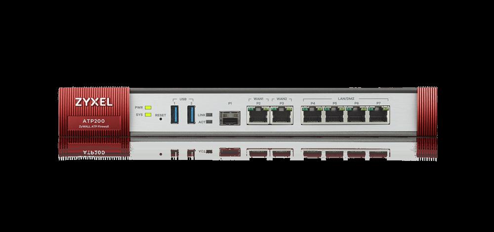 Zyxel ZyWALL ATP200 Межсетевой экран Rack, 3xWAN GE (2xRJ-45 и 1xSFP)