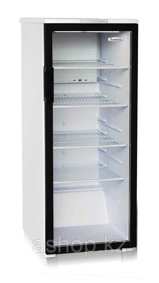 Шкаф-витрина Бирюса 290B, Тип открывания: Дверца стеклянная, Объем: 290 л, Цвет: Бело-чёрный