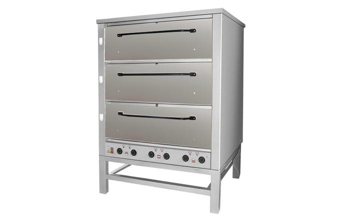 Хлебопекарная ярусная печь ХПЭ-500 (оцинкованные дверки).