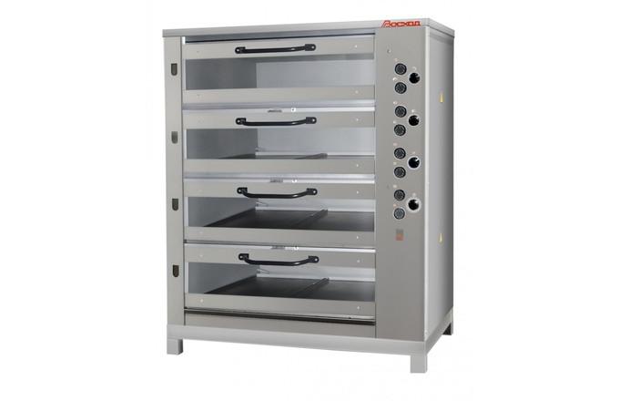Хлебопекарная ярусная печь ХПЭ-750/4С (нержавеющая облицовка, стеклянные дверки).