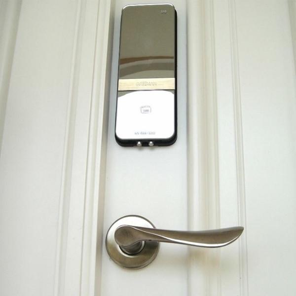 Накладной электрический кодовый замок для узкопрофильной двери Irevo Gateman Shine-S