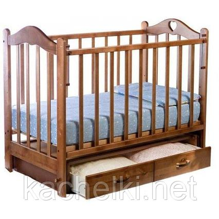 Кровать детская Ведрусс Лана–3 с маятником и ящиком