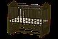 Кроватка детская Ведрусс Иришка–7 поперечный маятник без шкафчика, фото 3