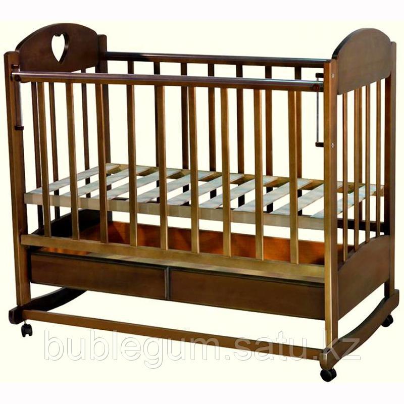 Кровать детская Иришка–2 с ящиком колесо-качалка