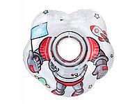 Надувной круг на шею для купания малышей FLIPPER  Космонавт. Возраст от 0 до 2-х лет