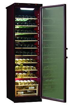 Шкаф винный Pozis ШВ-120, Тип открывания: Дверца стеклянная тонированная для защиты от УФ-лучей с замком, Объе