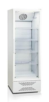 Шкаф-витрина Бирюса 460P, Тип открывания: Дверца стеклянная, Объем: 453 л, Цвет: Бело-чёрный