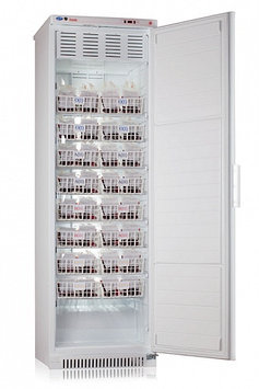 Холодильник для хранения крови Pozis ХК-400-1, Тип открывания: Дверца металлическая с замком, Объем: 250 л, Ко