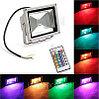 Прожектор светодиодный RGB 30W цветной, разноцветный, меняющий цвета, фото 2