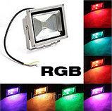 Прожектор светодиодный RGB 50W цветной, разноцветный, меняющий цвета, фото 5