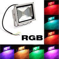 Прожектор светодиодный RGB 80W цветной, разноцветный, меняющий цвета