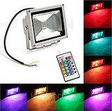 Прожектор светодиодный RGB 100W цветной, разноцветный, меняющий цвета, фото 5