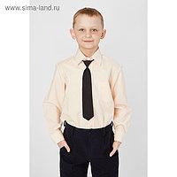 Сорочка для мальчика, нарядная с галстуком, рост 122-128 см (30), цвет персиковый 1181А