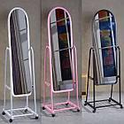 Зеркало напольное узкое на колесах, фото 10