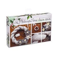 Венок новогодний мягкий 'Зимний', набор для шитья, 16,3 x 10,7 x 2,5 см