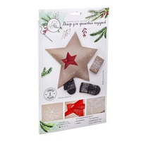 Декор для упаковки подарков 'Морозный Новый Год', набор для шитья, 22 x 33 x 14 см
