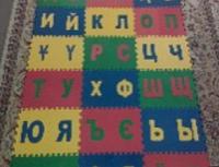 """Коврик-пазл детский """"Казахский Алфавит"""" 20*20 (см)"""