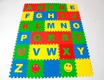 Коврик-пазл детский «Английский Алфавит» 25*25 (см)