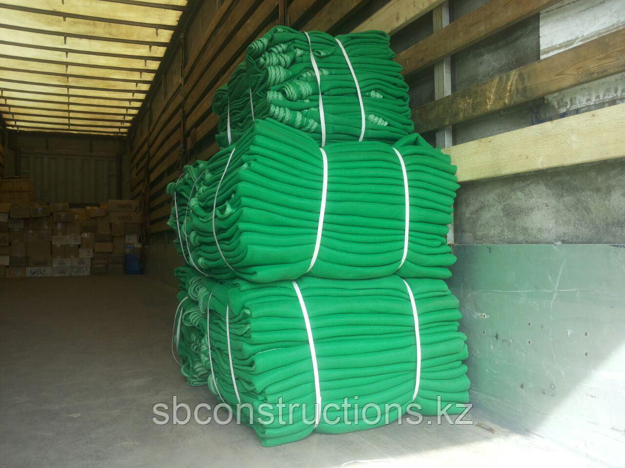 Сетка защитная для строительных лесов 10 на 2.5 м затеняющая