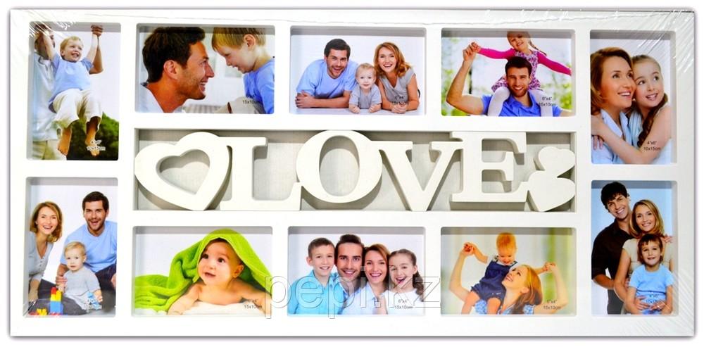 """Фоторамка  """"Love"""", белая"""