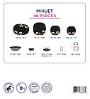 Столовый сервиз Luminarc Минуэт Блэк-Minuet Black 46 предметов, фото 2