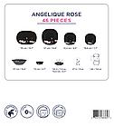 Столовый сервиз Luminarc Angelique Rose 46 предметов, фото 3