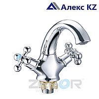 Смеситель для умывальника двуручный  ZEGOR DML1-A827
