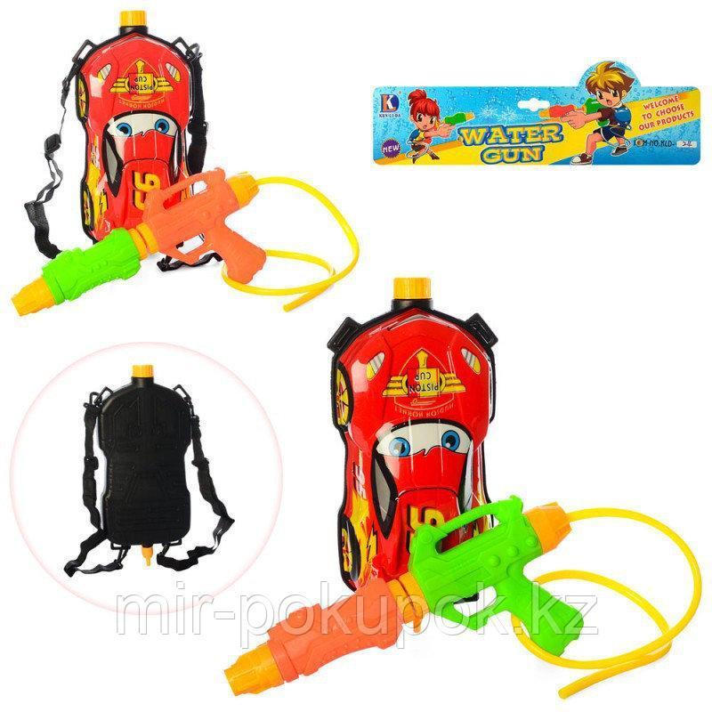 Водяной автомат с баллоном на плечи (Водяной пистолет с баком-рюкзаком 1л) Супергерой