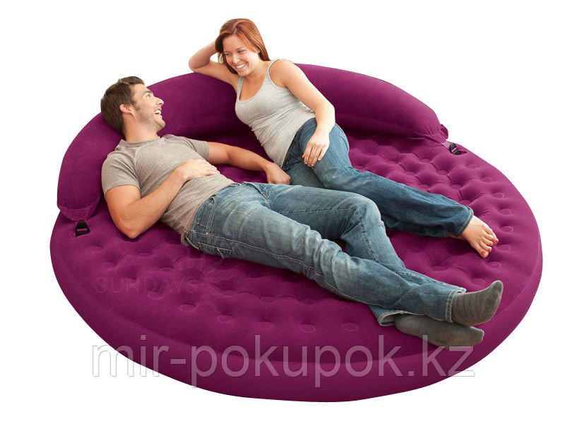 Круглая надувная кровать Лонжа Intex 68881 (надвуной круглый диван-матрас)