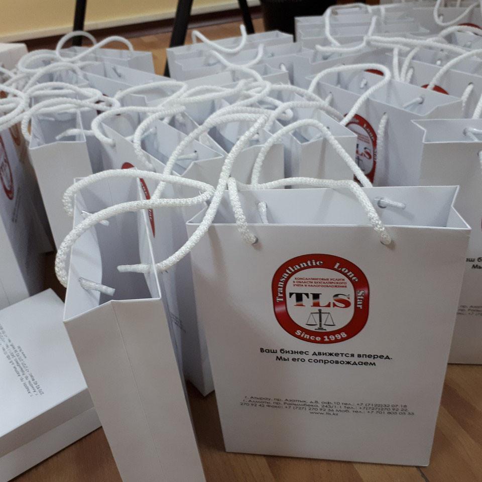 Подарочные пакеты печать логотипа
